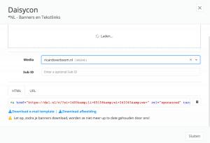 voorbeeld van een affiliatelink