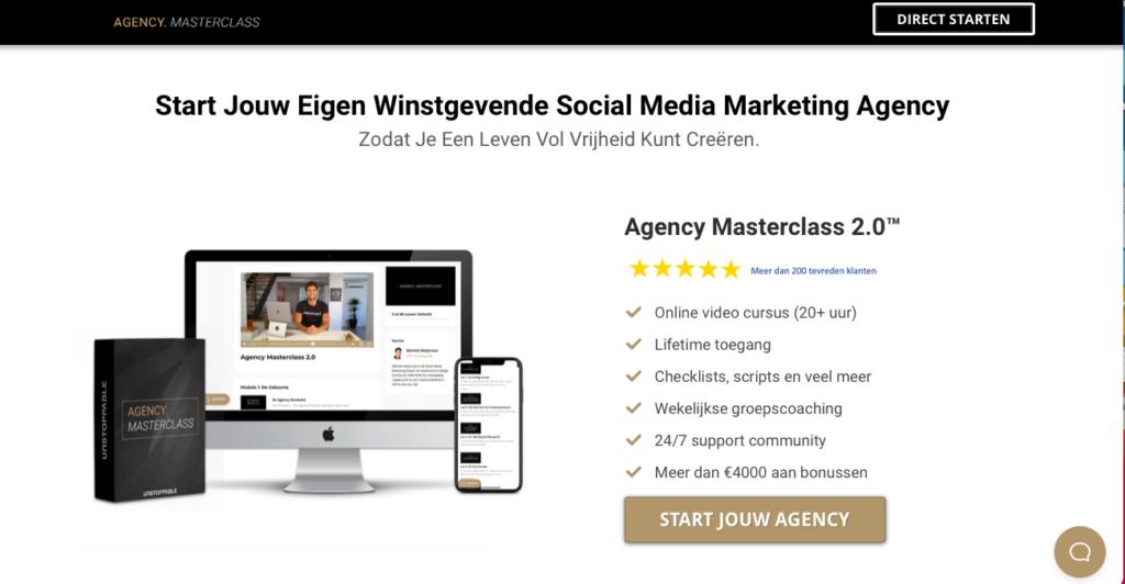 agency masterclass website