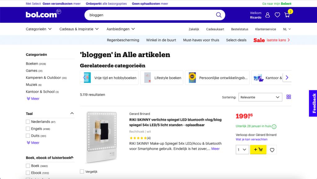 producten over bloggen