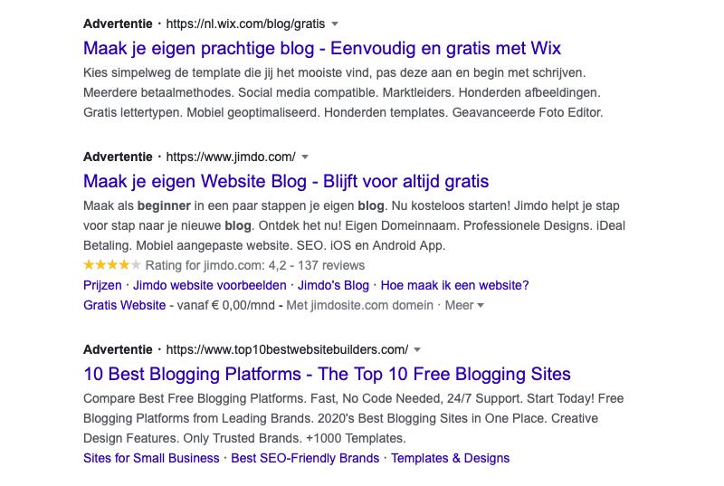 google advertenties bloggen
